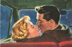 1950s kissing